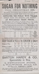 Advert For Barton, Hardy & Co's Tea Stores